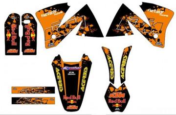 Kit Autocolantes Para KTM EXC XC 98-01