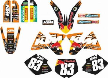 Kit Autocolantes Para KTM SX / MX 98-00