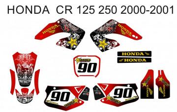 Kit Autocolantes Para Moto - Honda CR 125 / 250 00-01