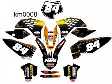 Kit Autocolantes Para Moto - KTM SX MX 07 - 10