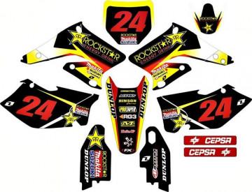 Kit Autocolantes Para Suzuki RMZ 250 04-06