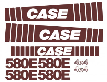 Kit de Autocolantes para CASE 580E 4x4