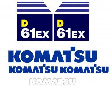 Kit de Autocolantes para KOMATSU D61EX