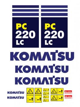 Kit de Autocolantes para KOMATSU PC220 LC