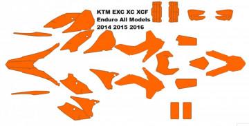 KTM EXC XC XCF Enduro 2014 2015 2016