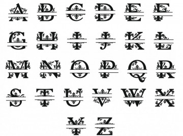 Letra Monograma em MDF - Com Palavra Personalizada
