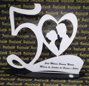 Moldura em acrílico - 50 Anos de Casado