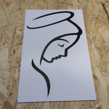 Placa Decorativa em PVC - Nossa Senhora de Fátima