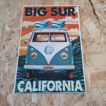 Placa Decorativa em PVC - Vw Pão de forma Big Sur California