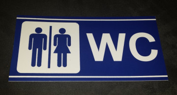 Placa PVC - WC (Unisexo)