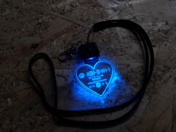 Porta Chaves com luz Multicor - A tua música