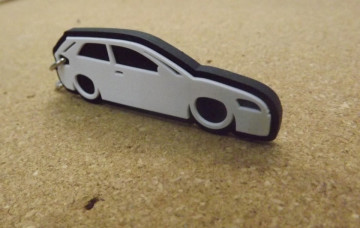 Porta Chaves com silhueta de Audi A3 8P