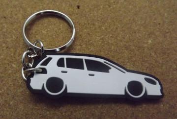Porta Chaves com silhueta de Volkswagen Golf VI / MKVI - 5 Portas