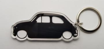 Porta Chaves de Acrílico com silhueta de Fiat 500