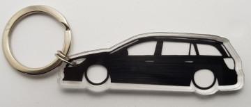 Porta Chaves de Acrílico com silhueta de Opel Astra H Caravan