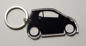 Porta Chaves de Acrílico com silhueta de Smart ForTwo
