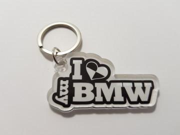 Porta chaves em acrílico com I Love My BM