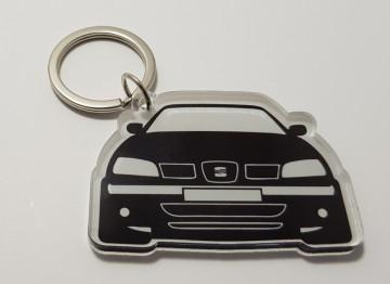 Porta chaves em acrílico com silhueta Seat 6k2