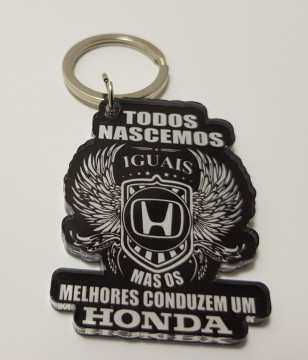 Porta chaves em acrílico - Todos Nascemos Iguais (Honda)