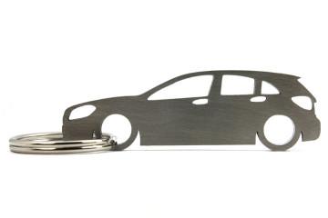 Porta Chaves em inox com silhueta com Mercedes A W176