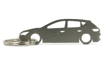 Porta Chaves em inox com silhueta com Seat Leon 5F 5P