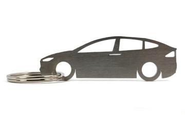 Porta Chaves em inox com silhueta com Tesla Model X