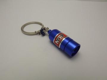 Porta Chaves - Garrafa Nitro em Azul com lanterna