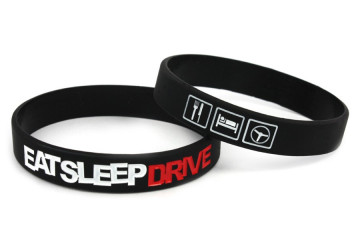 Pulseira-  EAT SLEEP DRIVE Preto