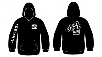 Sweatshirt com capuz para Eat Sleep Seat
