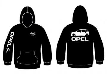 Sweatshirt com capuz para Opel Corsa C
