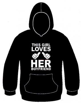 Sweatshirt com capuz - This Girl Loves Her BoyFriend