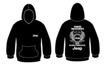 Sweatshirt com capuz Todos Nascemos (Jeep)