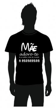 T-shirt com Mãe adoro-te