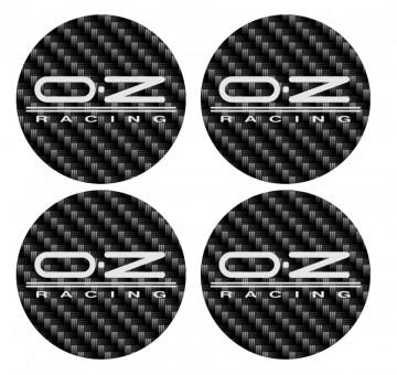 4 Autocolantes Para Centros de Jantes com OZ Racing