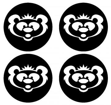 4 Autocolantes Para Centros de Jantes com Urso