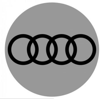 4 Autocolantes Para Centros de Jantes para Audi