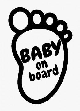 Autocolante - Baby on board