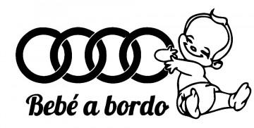 Autocolante - Bebé a bordo para Audi