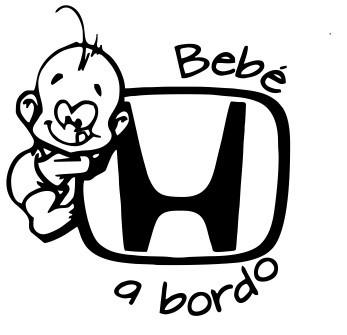 Autocolante - Bebé a bordo para Honda