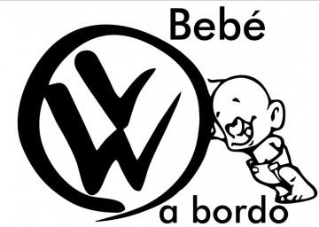 Autocolante - Bebé a bordo VW
