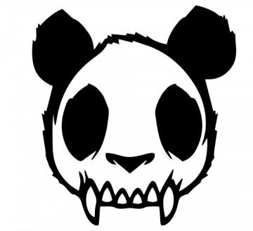 Autocolante  -  Caveira Panda