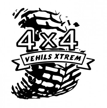 Autocolante com 4X4 Vehils Xtrem