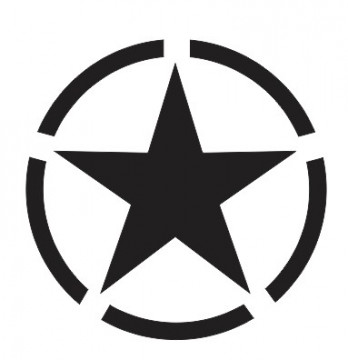 Autocolante com Army Star