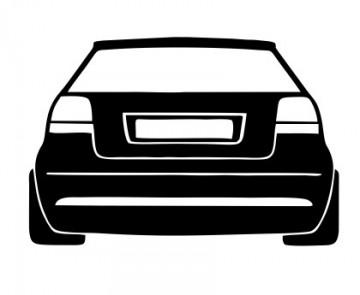 Autocolante com Audi A3 8P