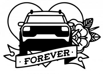 Autocolante com Citroen Cactus Forever