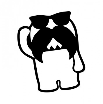 Autocolante com Domo Mustache