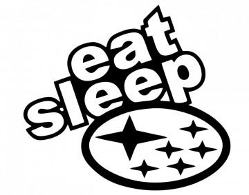 Autocolante com eat sleep Subaru