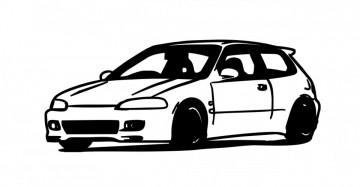 Autocolante com Honda EG