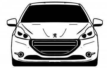 Autocolante com Peugeot 208