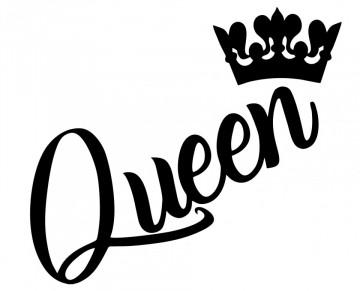 Autocolante com Queen Coroa